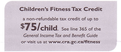 Children's Fitness Tax Credit
